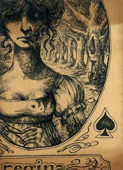 Queen of Spades - ACEO