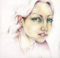 Prismacolor Self-Portrait by sphinxmuse
