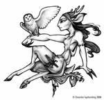 Deerwoman and Owl
