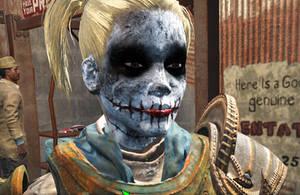 Fallout 4 - Dark Knight Harley Quinn