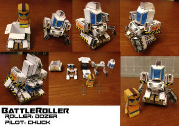 BattleRoller: Dozer and Chuck Papercraft Minis by wulongti
