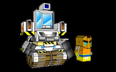 BattleRoller: Dozer and Chuck minis (sketchup) by wulongti