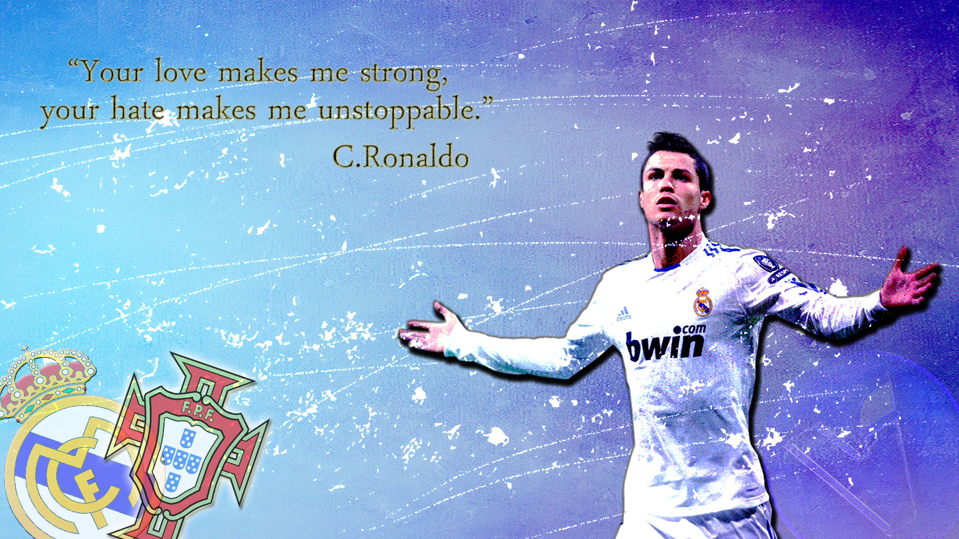 Art Of Cristiano Ronaldo Fans Wallpaper Sport Soccer: Cristiano Ronaldo Quotes Wallpaper. QuotesGram