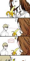Dramione - Girl and Banana