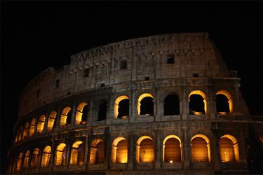 Colosseum By Night by frk-kalbakk