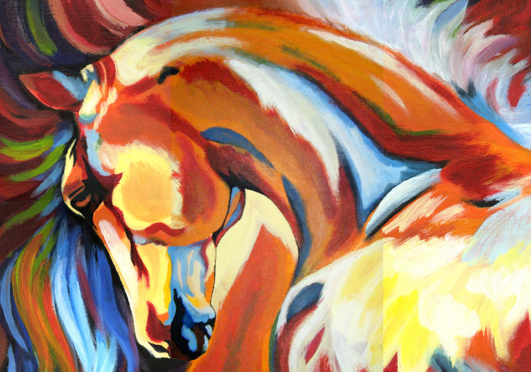 the gallery for gt abstract indian horse paintings