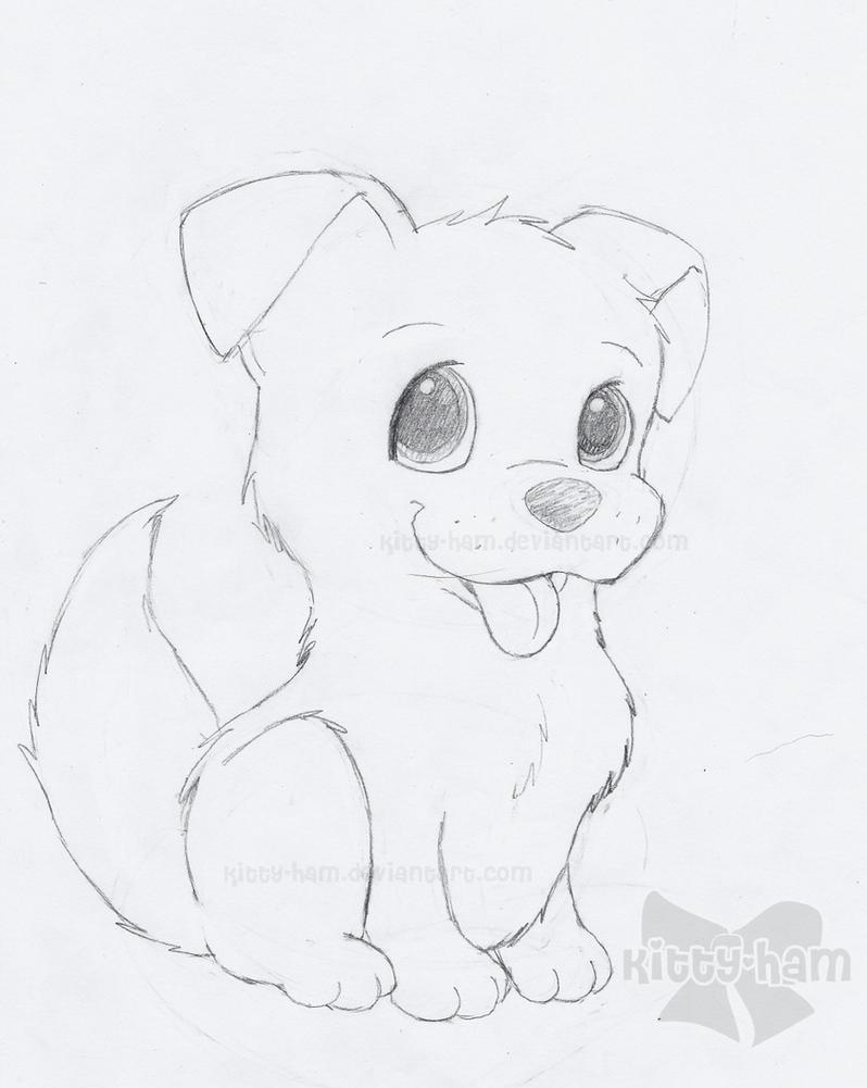 puppy drawing. Puppy Sketch by Kitty Ham  on DeviantArt