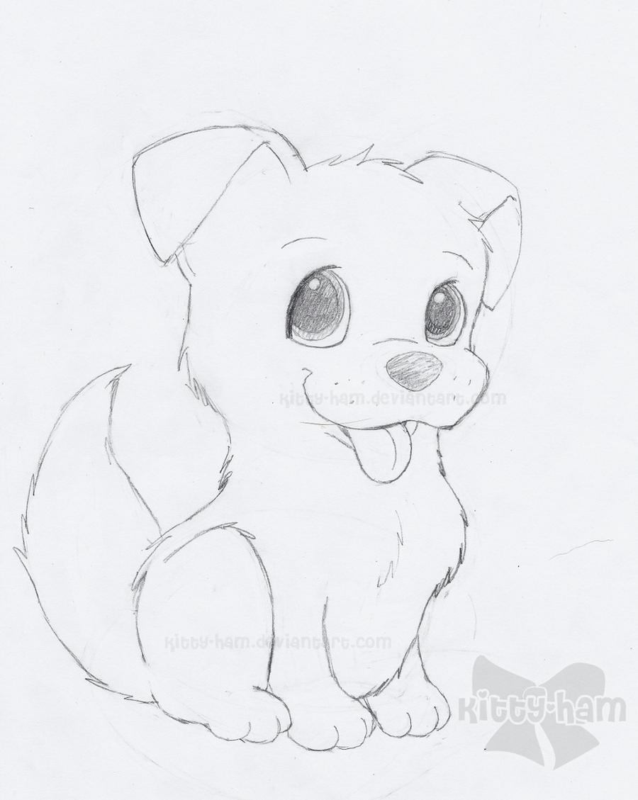 Puppy Sketch By Kitty Ham On DeviantArt