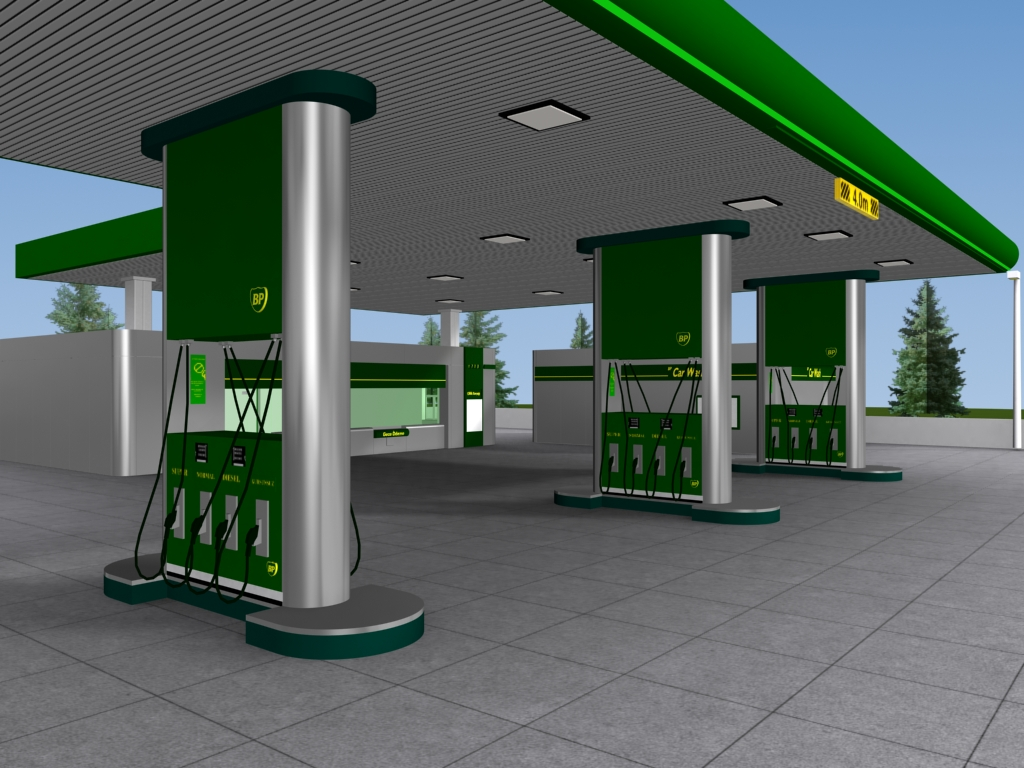 BP Gas Station by Barakadesign on DeviantArt
