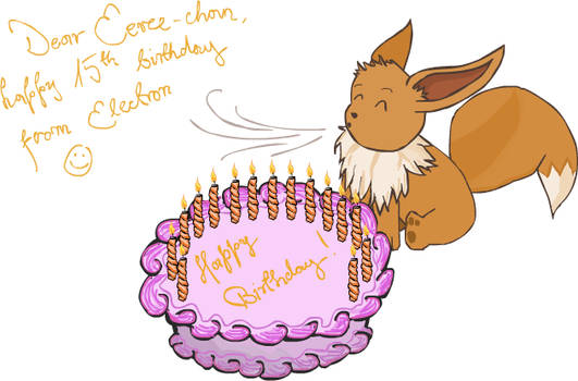 Happy birthday, Eevee-chan