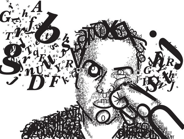 Typographic Portrait by PopeyeFrancom