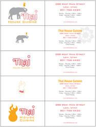 Thai Logo business cards