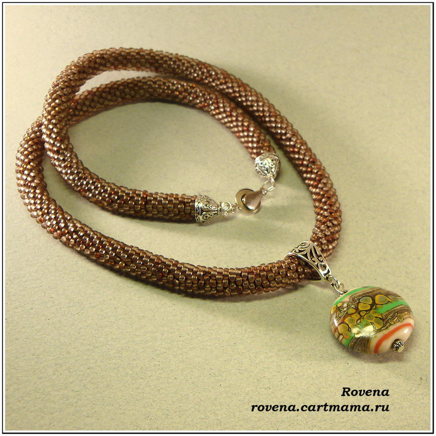 Crocheting Rope : beaded crochet rope with handmade bead by Rovenaru on DeviantArt