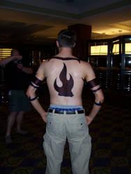 Kamina Cosplay -Tattoos Back-