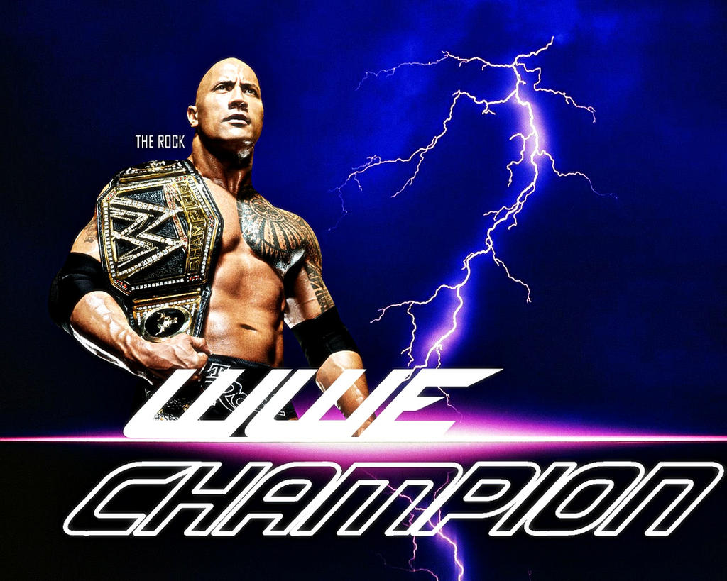 The Rock New WWE Champion By SameerDesigns