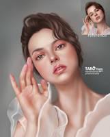 Girl Color study portrait by TaroTram