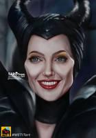 Maleficient-Angelina Jolie Fanart by TaroTram