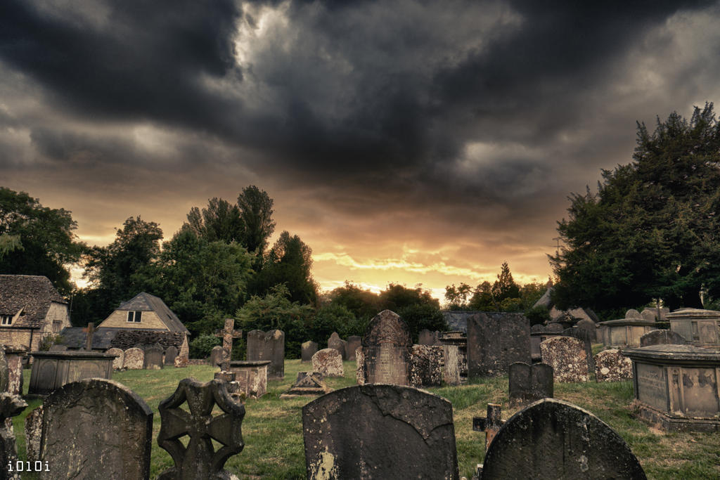 Purton church Graveyard..... pretty evil. by I0l0I