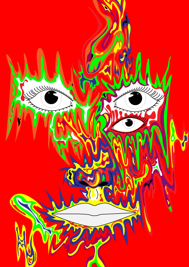 psychedelic face by peacebraker on deviantart