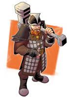 Aradun, Dwarf Paladin / DnD Character design by xLoboBlanco