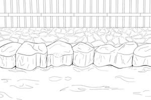 Hot Spring Background Line Art - F2U - Read Rules