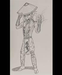 Killua cosplay as Raiden