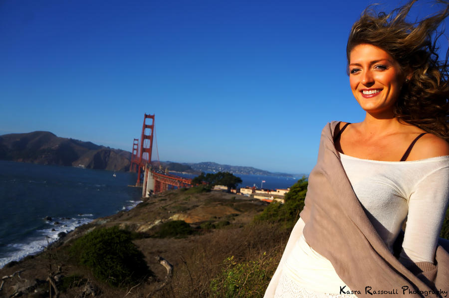 Golden Gate Bridge Portrait by KasraRassouli