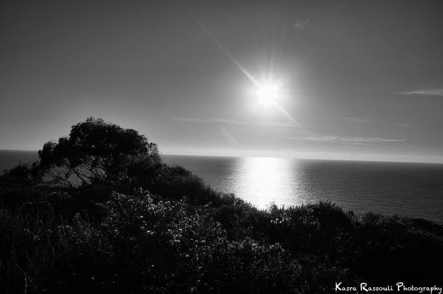 Sunset Over Ocean by KasraRassouli
