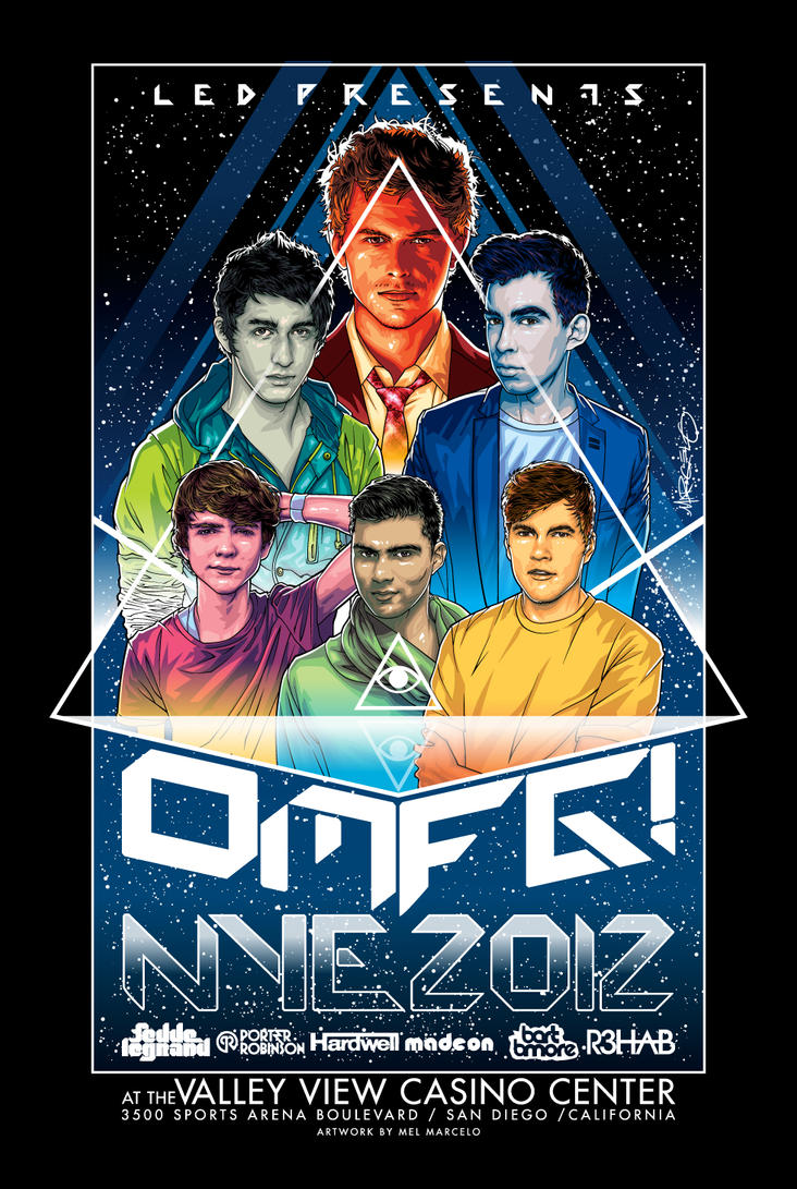 OMFG New Year's Eve 2012 Poster Art by meltendo on DeviantArt