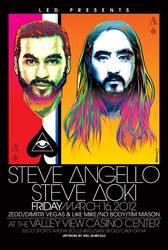 Steve Angello and Aoki Poster ARt