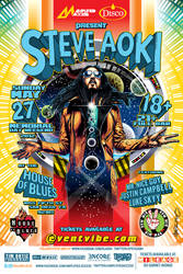 Steve Aoki House of Blues SD Poster Art