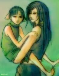 Tifa and Marlene by Seimei