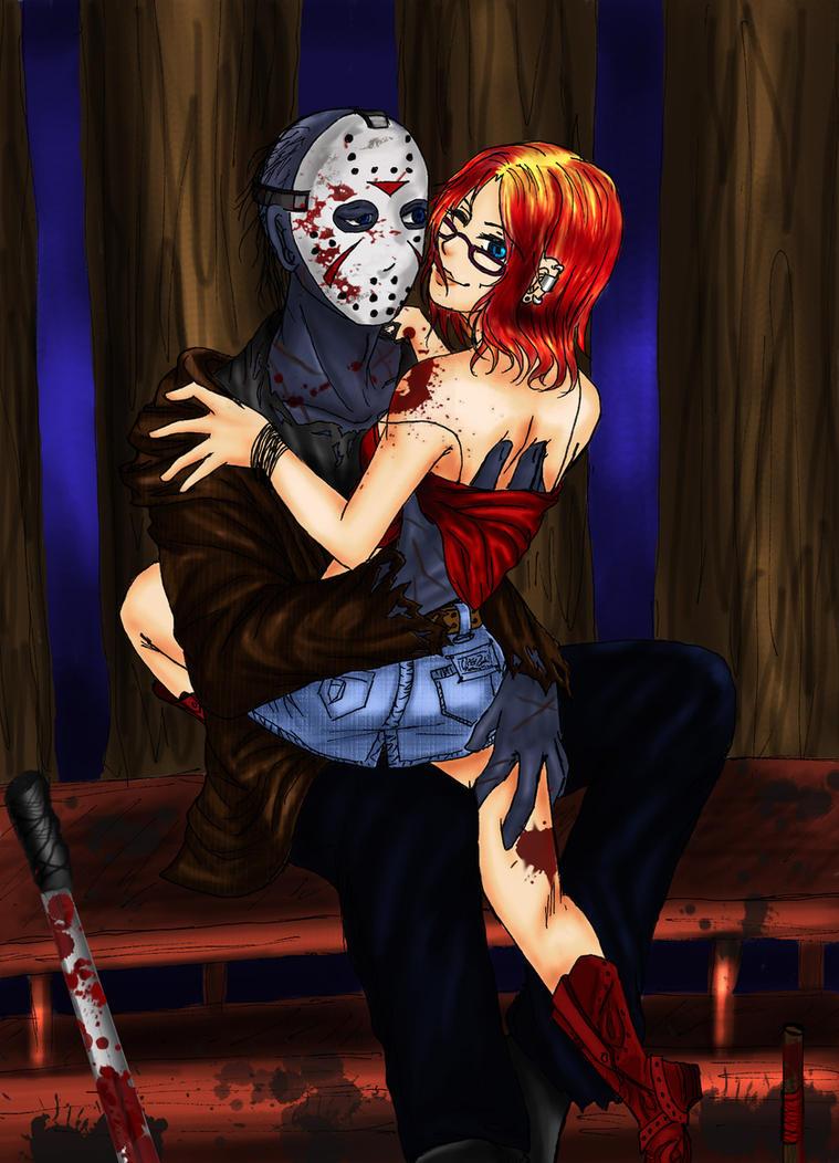 Маняк в маске и секс