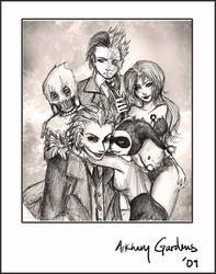 Happy Arkham Family by TyrineCarver