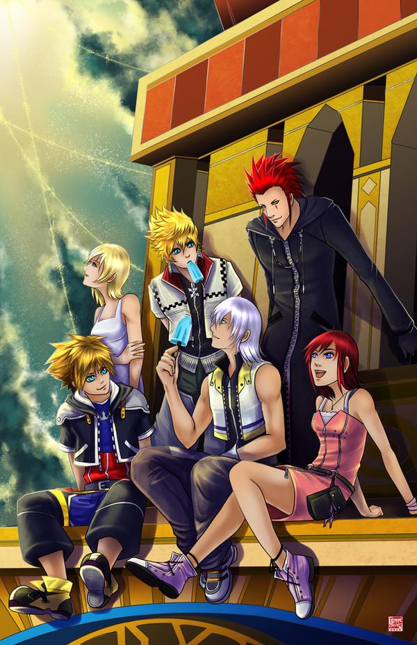 Kingdom Hearts - Sea Salt Sunset by TyrineCarver