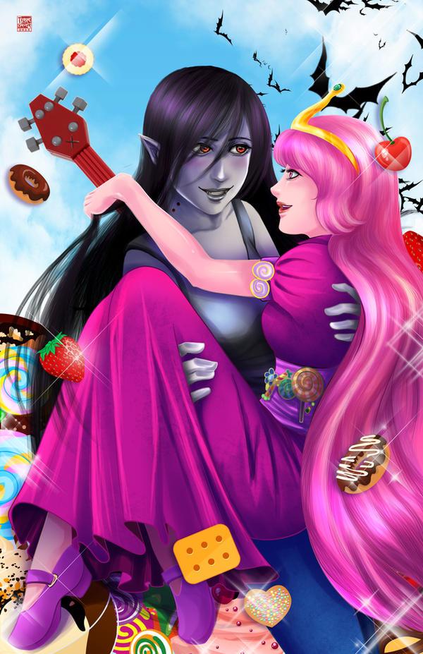Marceline and Princess B by TyrineCarver