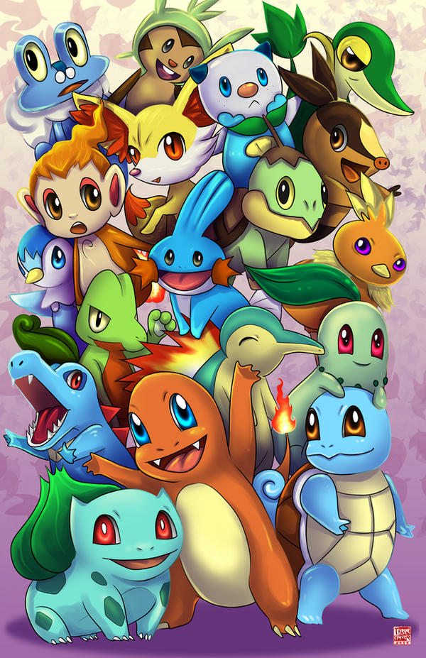 Pokemon - The Starters by TyrineCarver