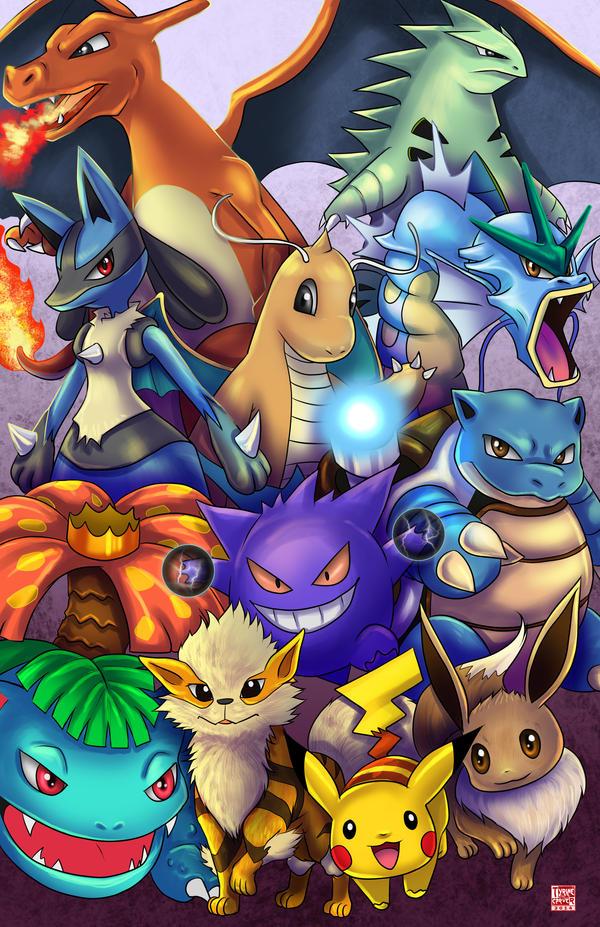 Pokemon - The Favorites by TyrineCarver