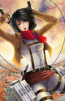 Attack on Titan - Mikasa by TyrineCarver