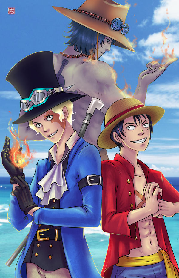 Ace, Luffy, Sabo by TyrineCarver on DeviantArt