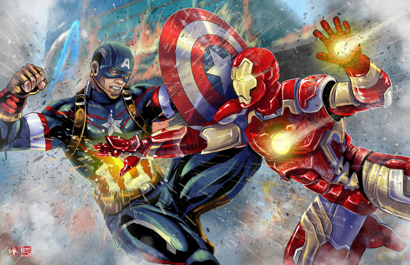 iron man vs captain america civil war by tyrinecarver on deviantart