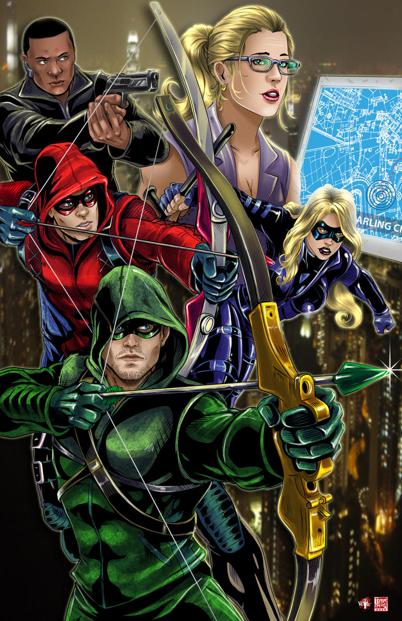 Dc Comics Fans : Team arrow by tyrinecarver on deviantart