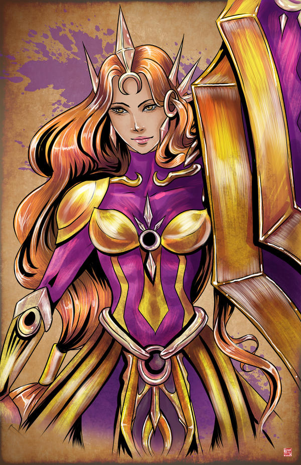 League of Legends - Leona by TyrineCarver