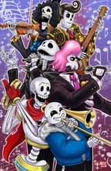 Death Metal Skeleton Crew by TyrineCarver
