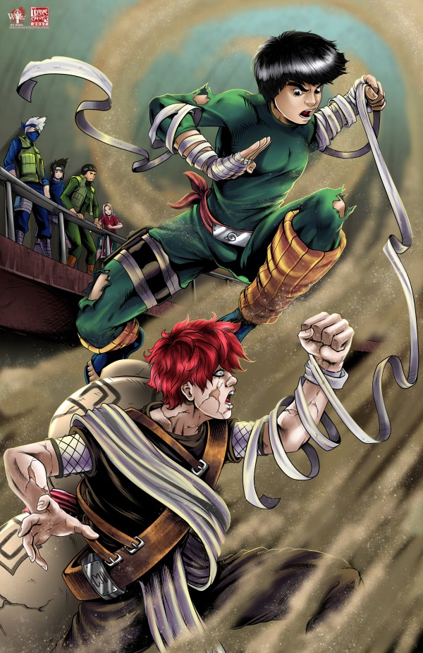 Gaara vs. Rock Lee by TyrineCarver on DeviantArt Gaara And Rock Lee