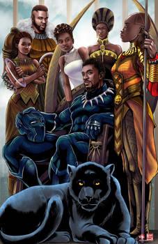 T'Challa Family Portrait