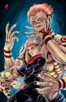 Sukuna and Yuji by TyrineCarver