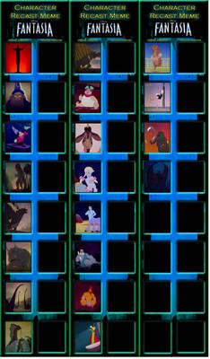 Disney Fantasia (1940) Recast Meme