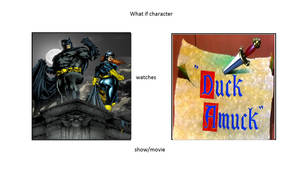 What if Batman and Batgirl watch Duck Amuck?