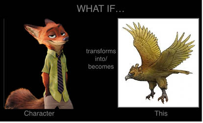 What if Nick Wilde transforms into Haast's eagle? by mblairll